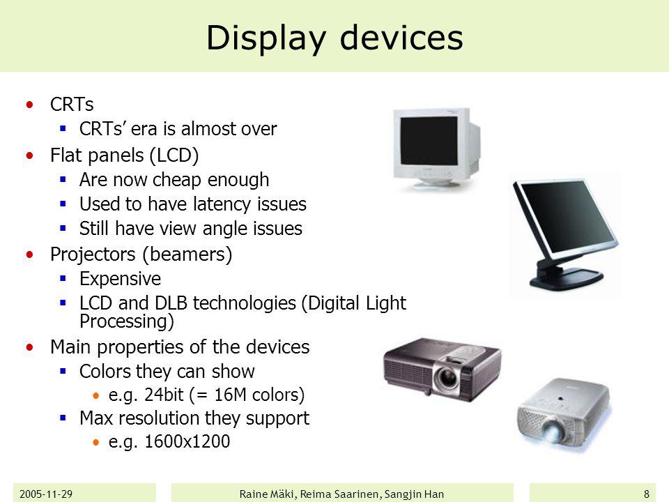2005-11-29Raine Mäki, Reima Saarinen, Sangjin Han29 OpenGL ES Royalty-free, cross-platform API for full-function 2D and 3D graphics on embedded systems  Consoles  Phones  Appliances