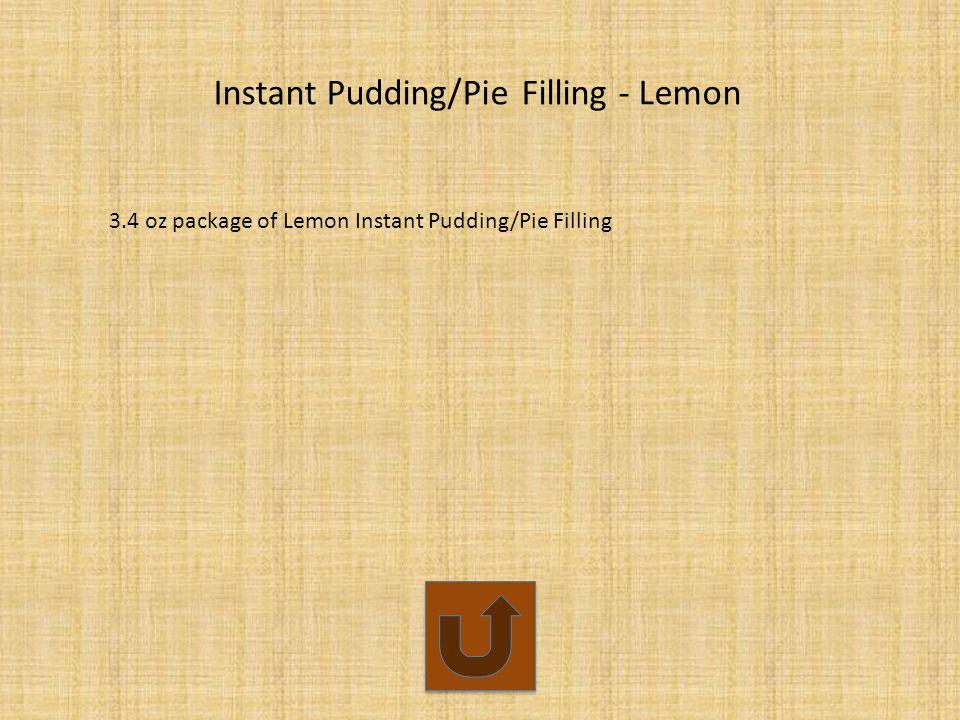 Instant Pudding/Pie Filling - Lemon 3.4 oz package of Lemon Instant Pudding/Pie Filling