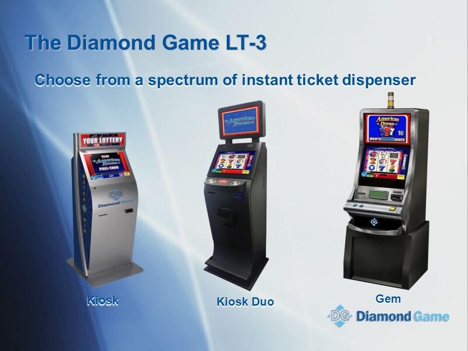 Choose from a spectrum of instant ticket dispenser Kiosk Kiosk Duo Gem The Diamond Game LT-3