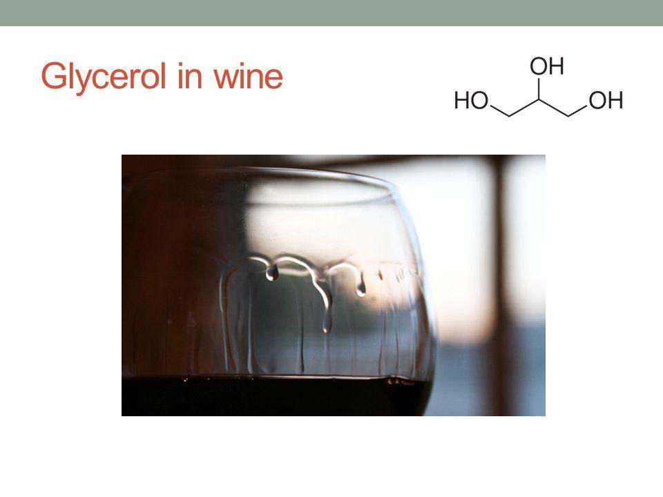 Glycerol in wine