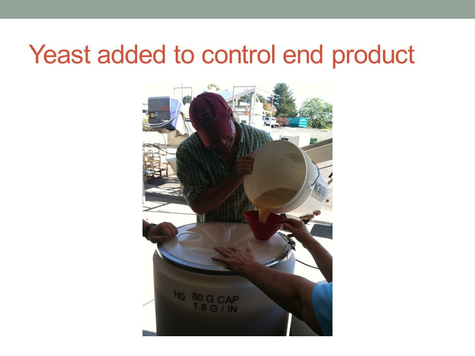 Yeast added to control end product