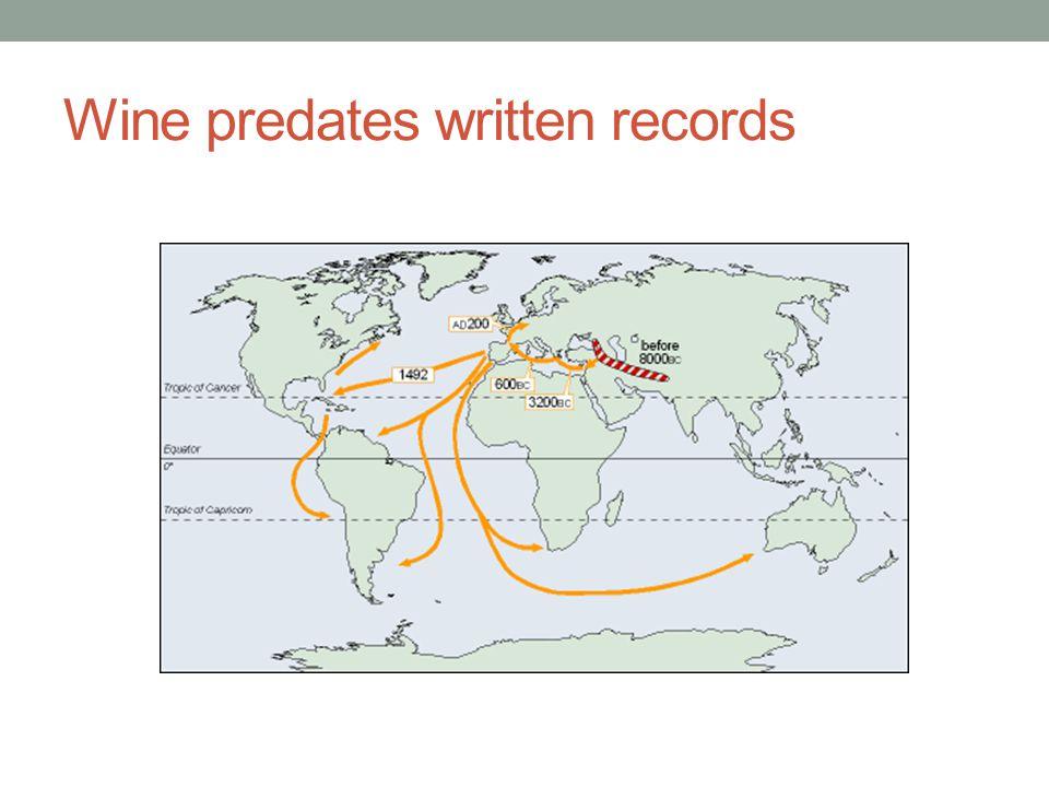 Wine predates written records