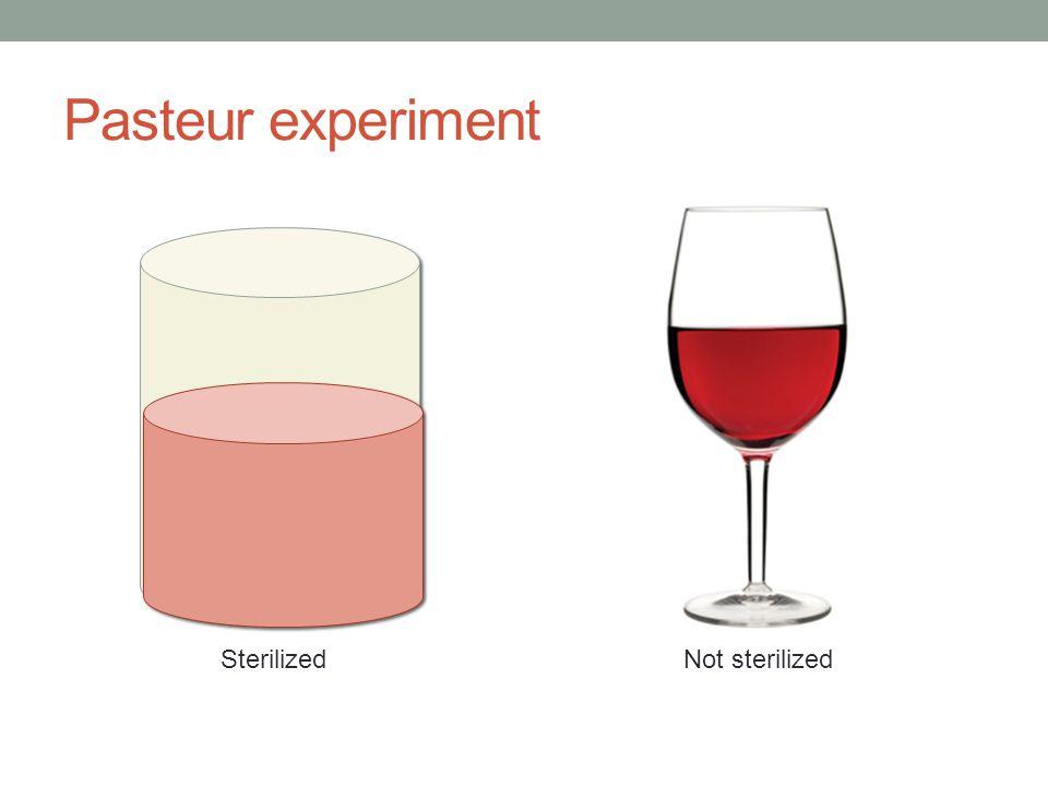 Pasteur experiment SterilizedNot sterilized