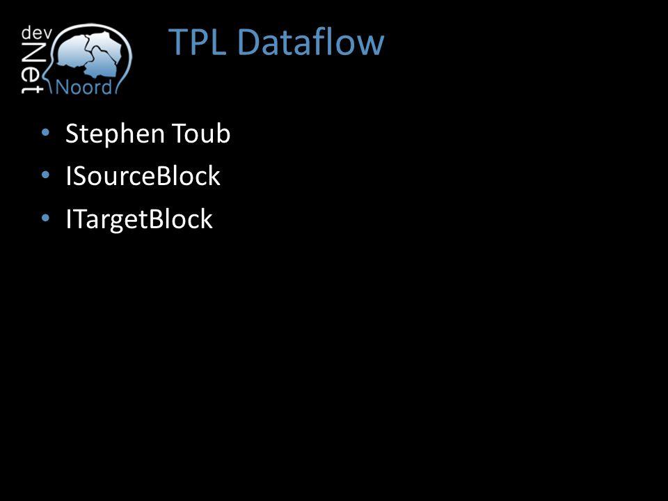 TPL Dataflow Stephen Toub ISourceBlock ITargetBlock