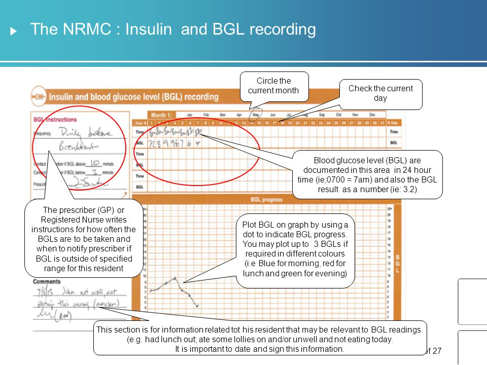 The NRMC : Insulin prescribing and administration Slide 27 of 27