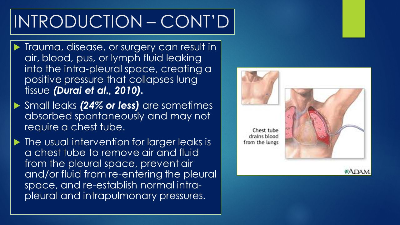 INTRODUCTION – CONT'D  PLEURAL EFFUSION : When a number of clinical conditions such as cancer, infection, pancreatitis, connective tissue disease, autoimmune diseases, asbestos exposure, certain drugs or collagen vascular diseases increase pleural fluid entry or decrease fluid exit from the lung.