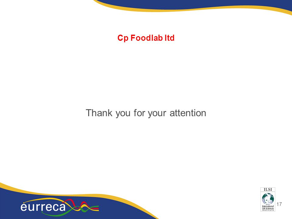 17 Cp Foodlab ltd Thank you for your attention