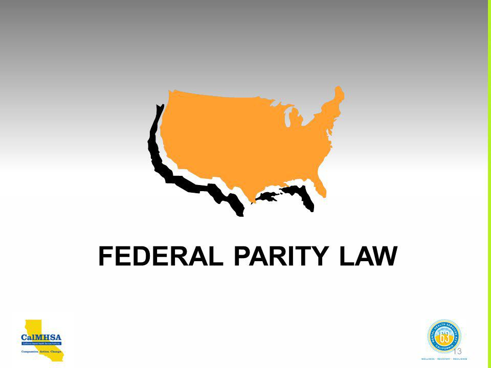 FEDERAL PARITY LAW 13