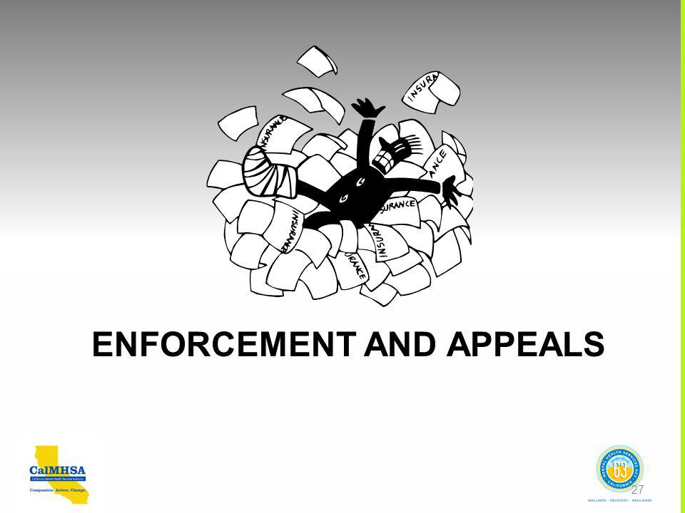 ENFORCEMENT AND APPEALS 27