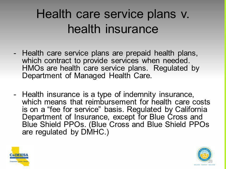 Health care service plans v.