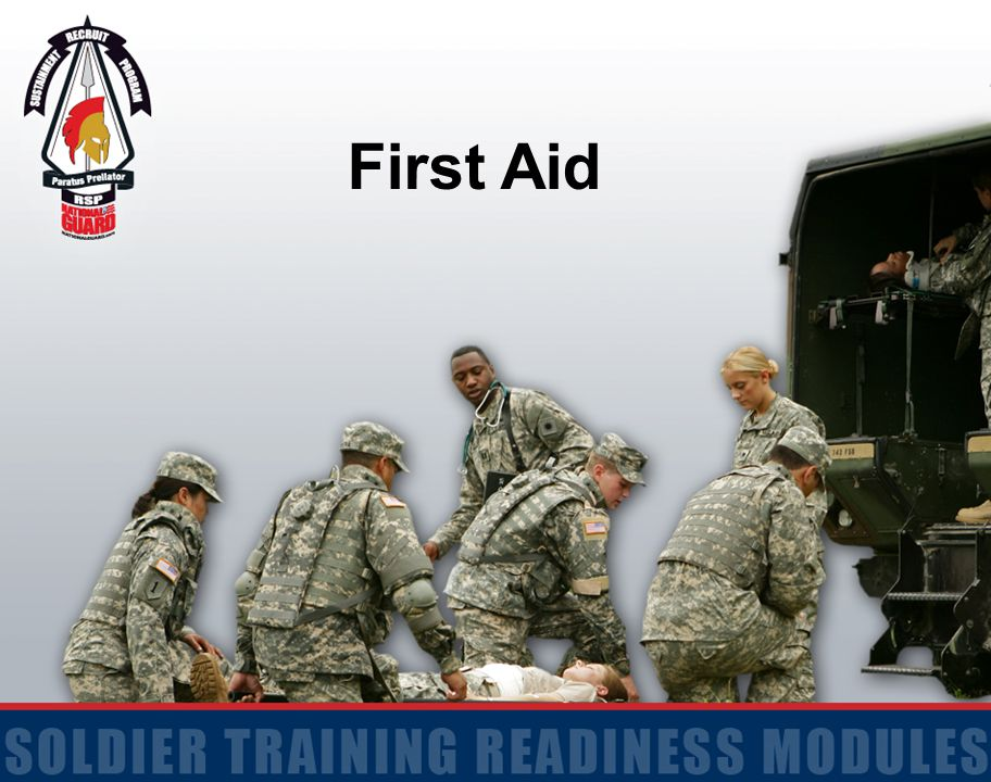 12 Action: Evaluate a Casualty and Practice Individual Preventive Medicine Countermeasures Conditions: Given a Soldier who has signs and/or symptoms of an injury Standards: Identify all injuries and/or conditions that require immediate first aid in the correct sequence and applied preventive medicine countermeasures to protect, as appropriate Terminal Learning Objective
