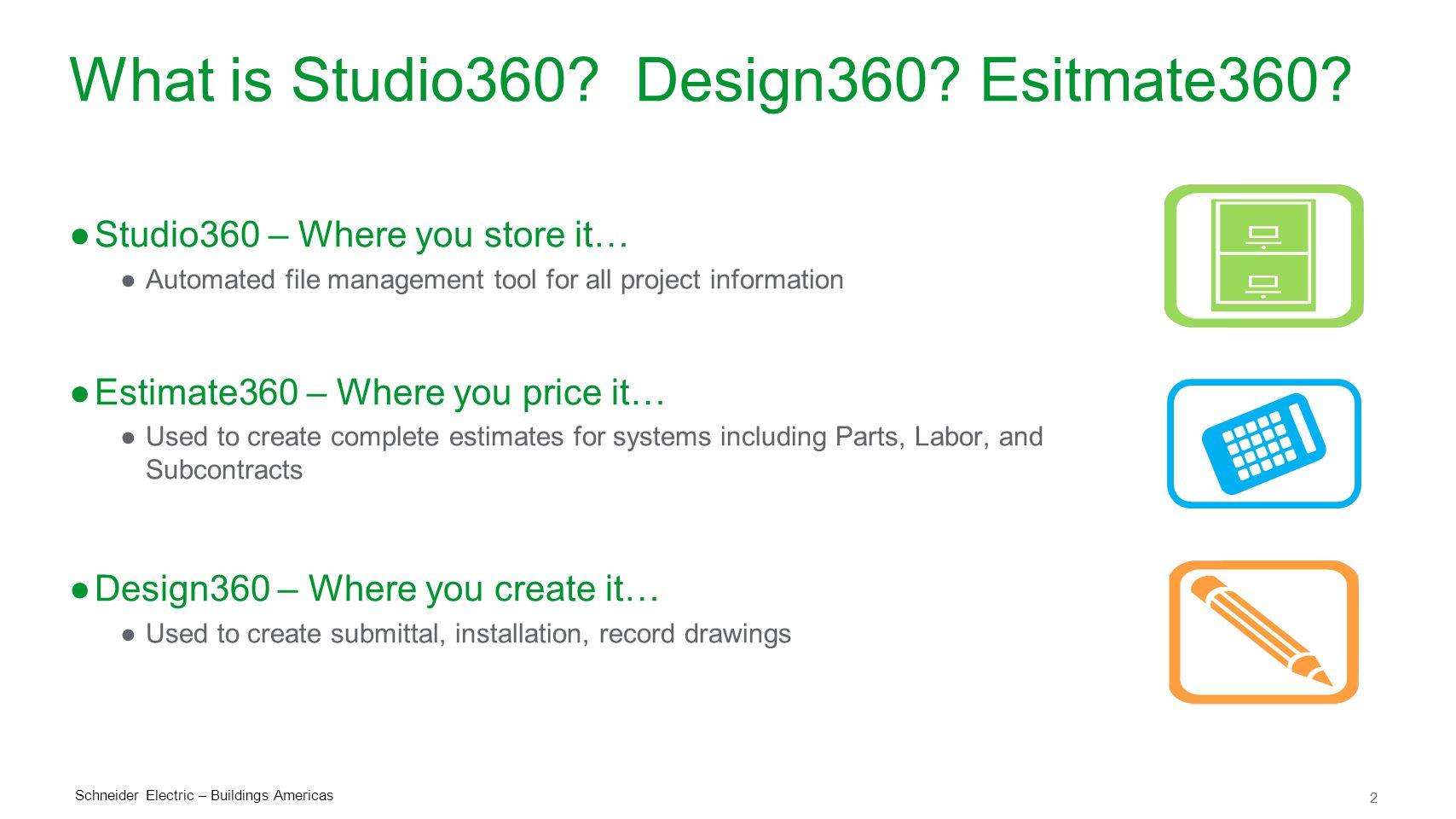 2 What is Studio360.Design360. Esitmate360.