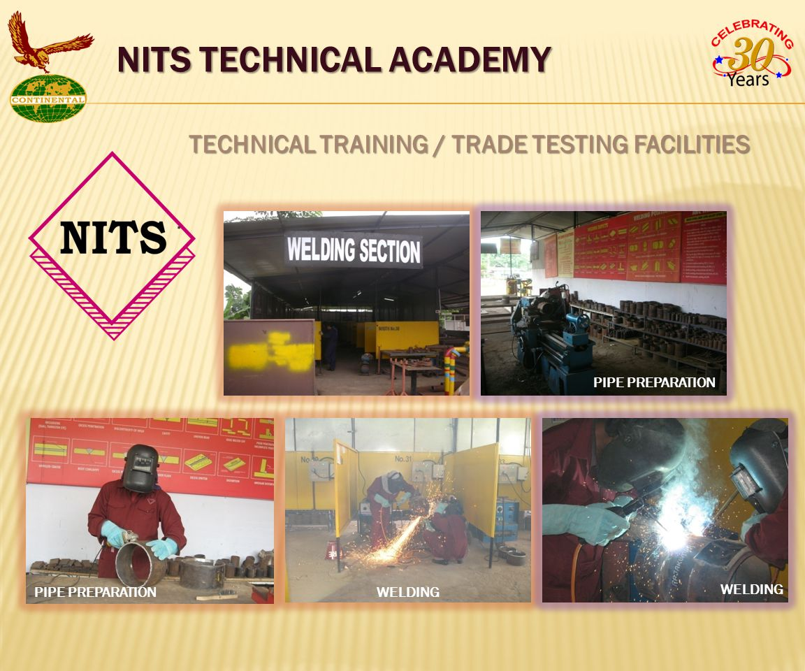 TECHNICAL TRAINING / TRADE TESTING FACILITIES.