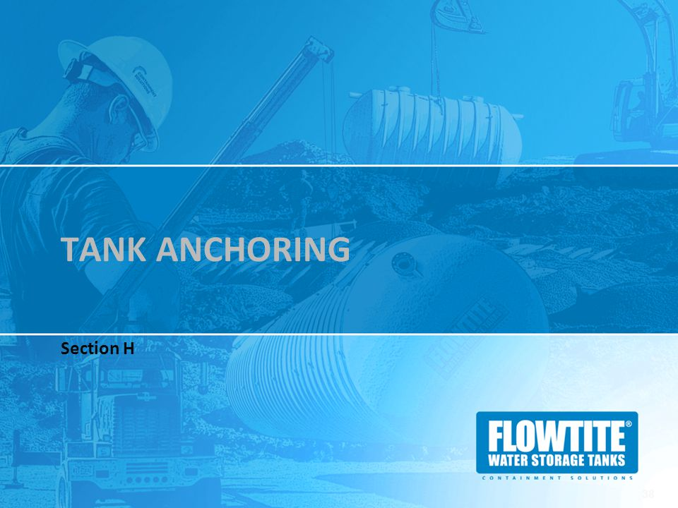 TANK ANCHORING Section H 38