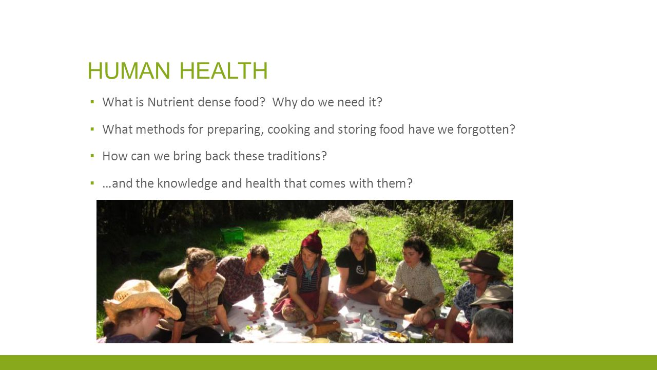 HUMAN HEALTH ▪ What is Nutrient dense food. Why do we need it.
