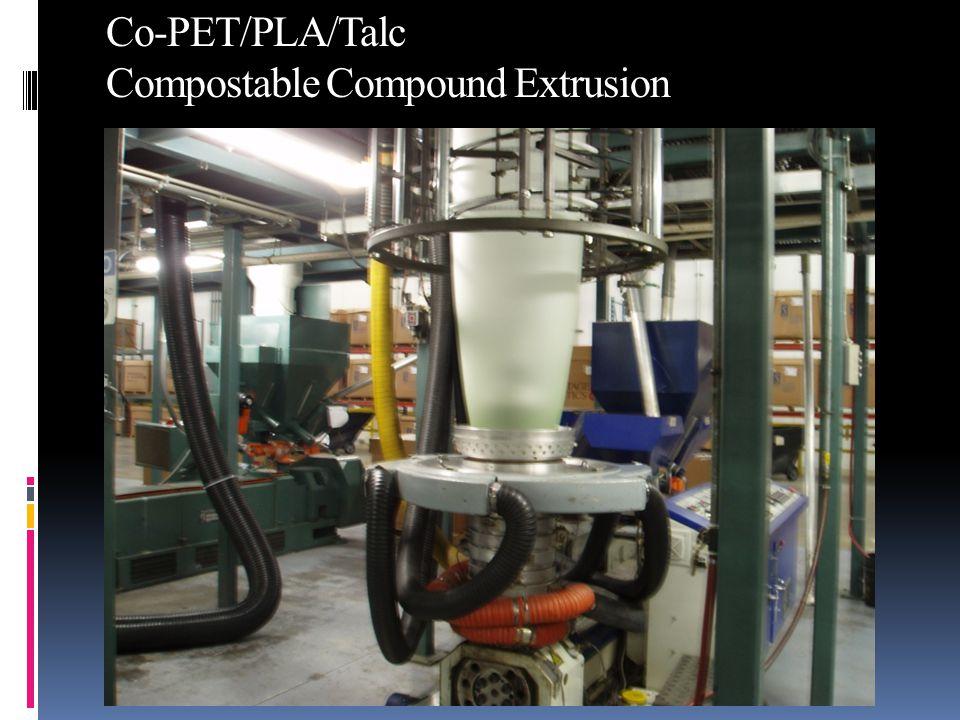 Co-PET/PLA/Talc Compostable Compound Extrusion