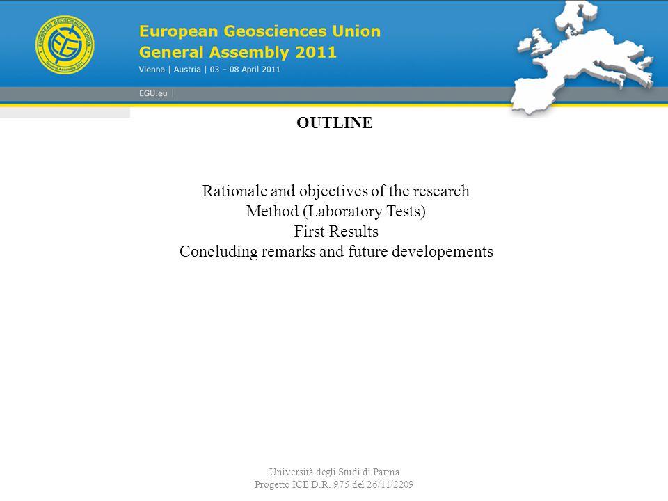 Università degli Studi di Parma Progetto ICE D.R. 975 del 26/11/2209 Net barrier vertical position