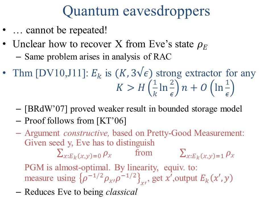 Quantum eavesdroppers
