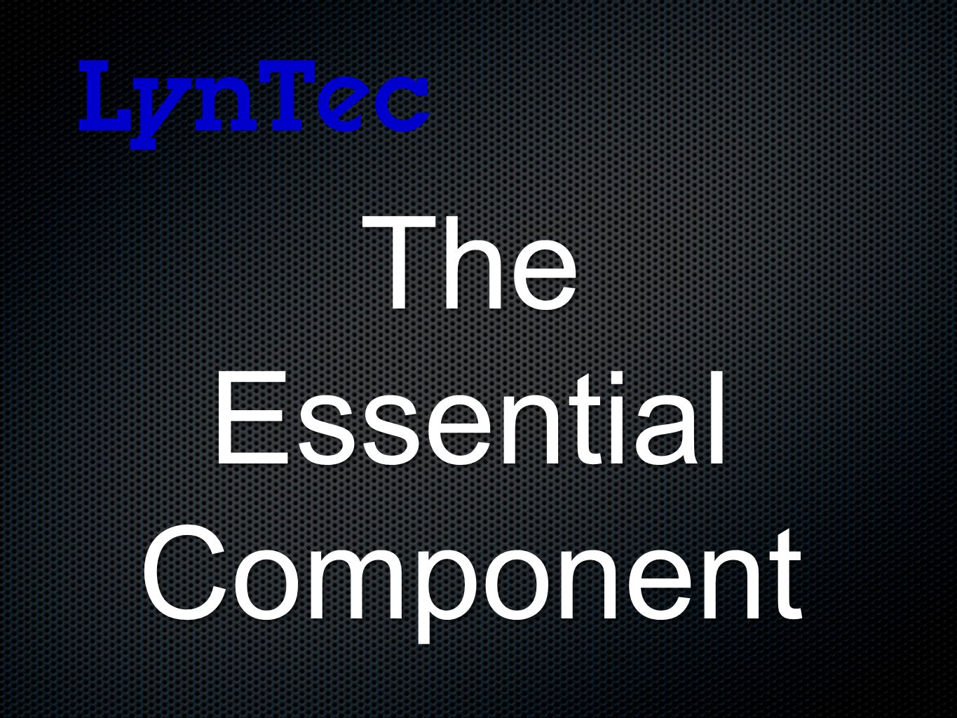The Essential EssentialComponent
