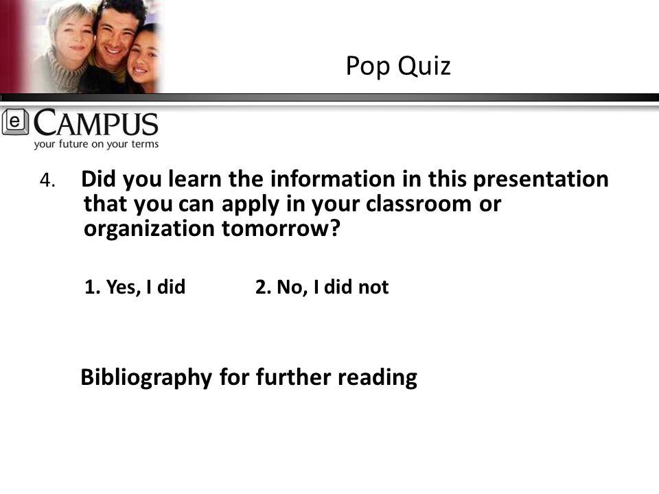 Pop Quiz 4.
