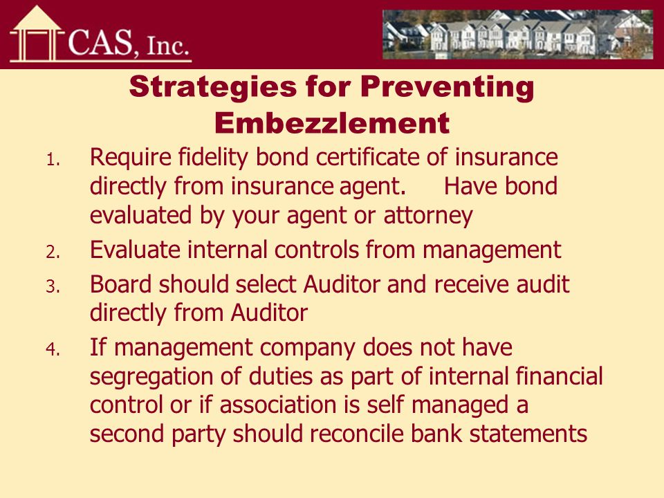 Strategies for Preventing Embezzlement 1.