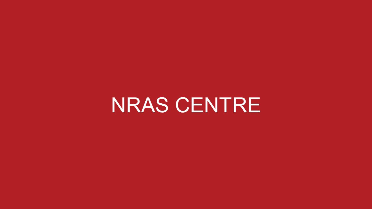NRAS APPROVED PROPERTY MANAGER TRAINING NRAS CENTRE
