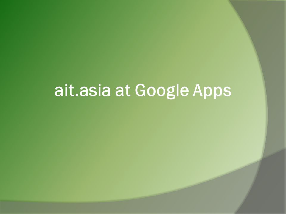 ait.asia at Google Apps
