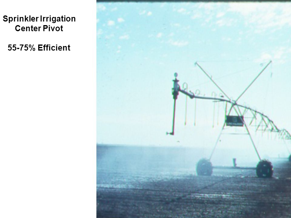 Sprinkler Irrigation Center Pivot 55-75% Efficient