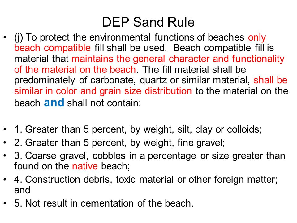 Beach Bill (S.B.758) Permits can be issued before the USFWS issues its BO and ITP.