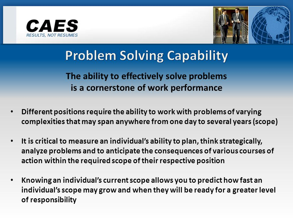 we need to ensure that an individual can eliminate or reduce errors This will require a person to be able to concentrate, make good decisions and take appropriate action while dealing with situational stress They will need to be aware of changing concentration requirements, and then adapt quickly in order to perform effectively And they must also understand and be capable of reducing the impact of task inhibiting distractions Since superior performance requires the ability to maintain quality within appropriate time frames