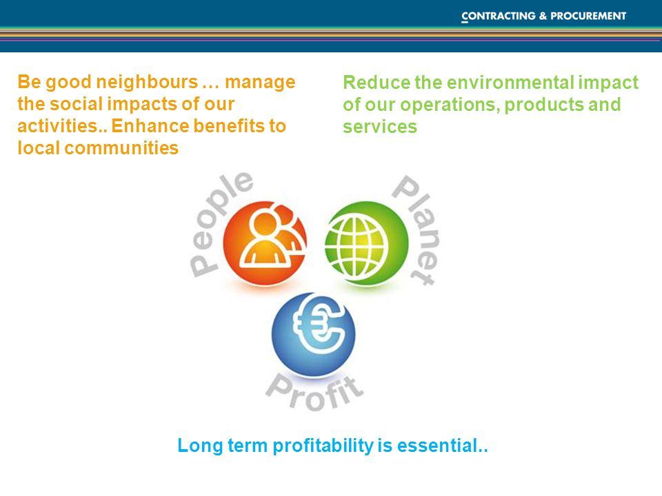 Long term profitability is essential..