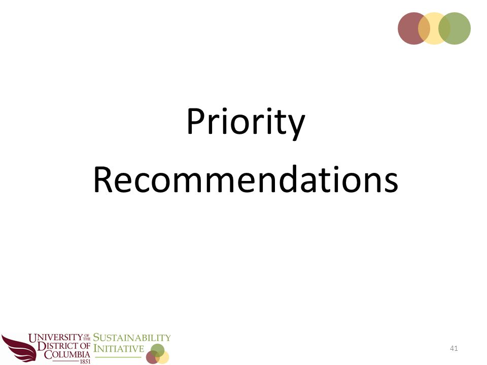 41 Priority Recommendations