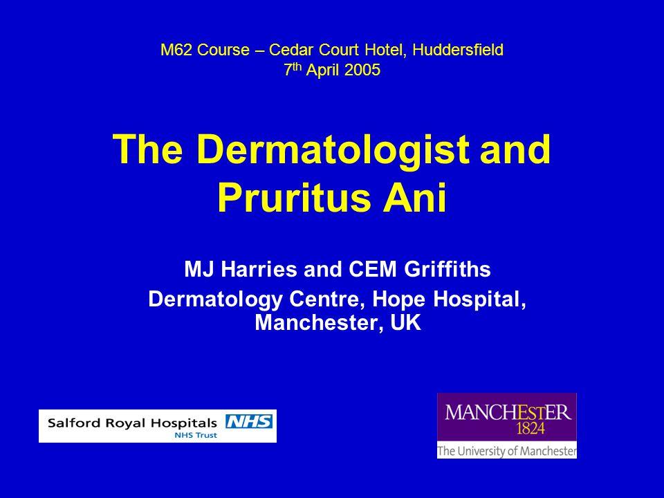 Common Perianal Allergens  Local anaesthetics  Corticosteroids  Neomycin  Perfume  Preservatives  Antiseptics Goldsmith et al.