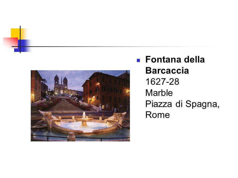 Fontana della Barcaccia 1627-28 Marble Piazza di Spagna, Rome
