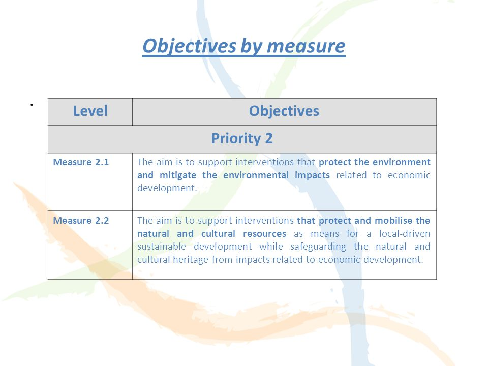 "Strategic Priority 2 Priority 2: ""Promotion and development of the environment and natural and cultural resources"", aiming to promote common actions f"