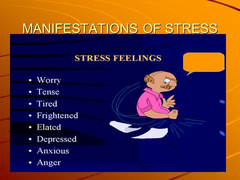 MANIFESTATIONS OF STRESS