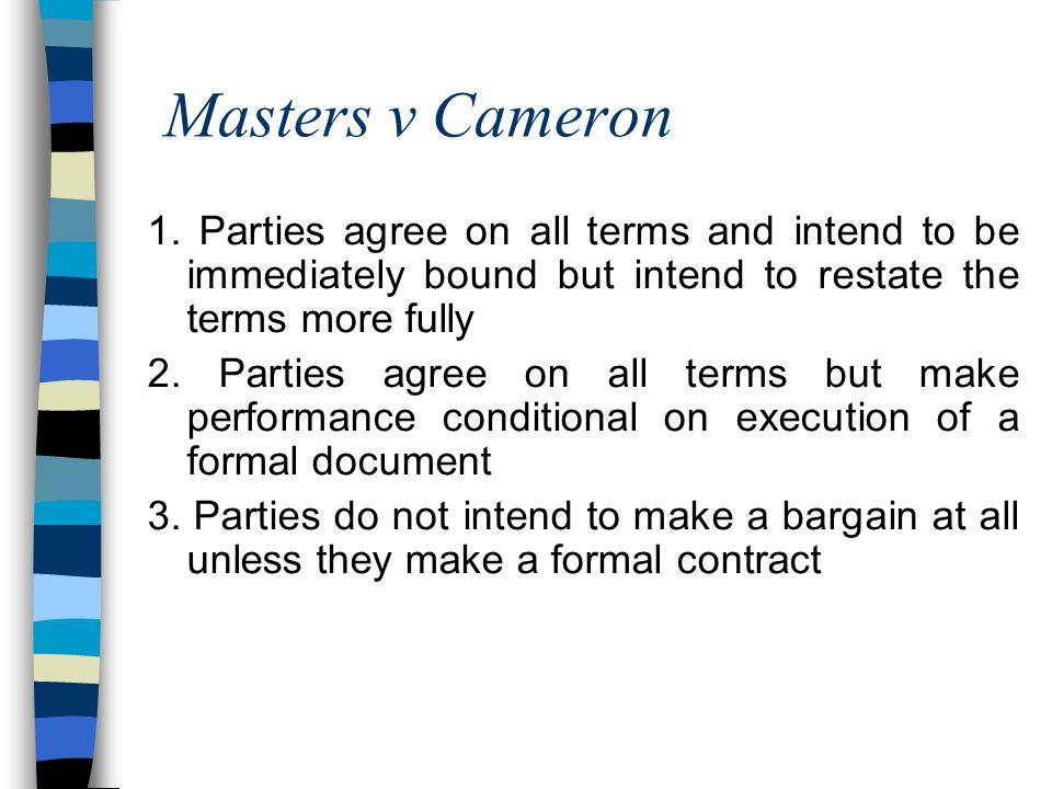 Masters v Cameron 1.