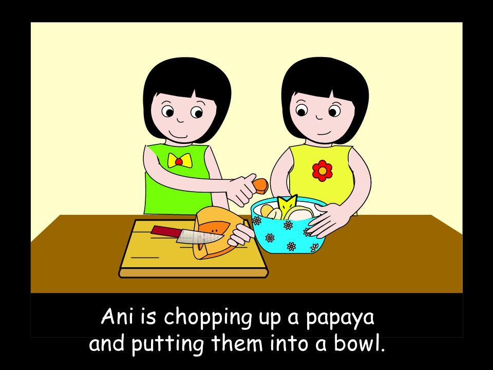 Add some Stir stir stir. Chop up a Chop chop Add some Now you taste it Yum yum yum.