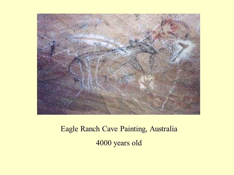 Eagle Ranch Cave Painting, Australia 4000 years old
