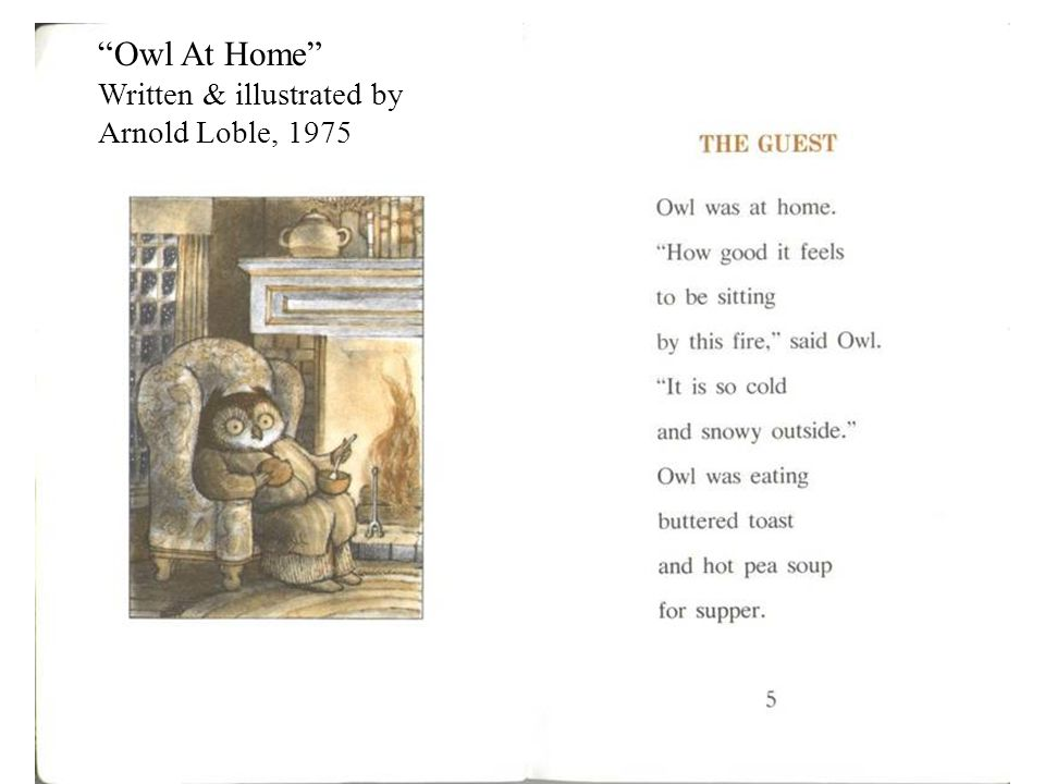 Owl At Home Written & illustrated by Arnold Loble, 1975