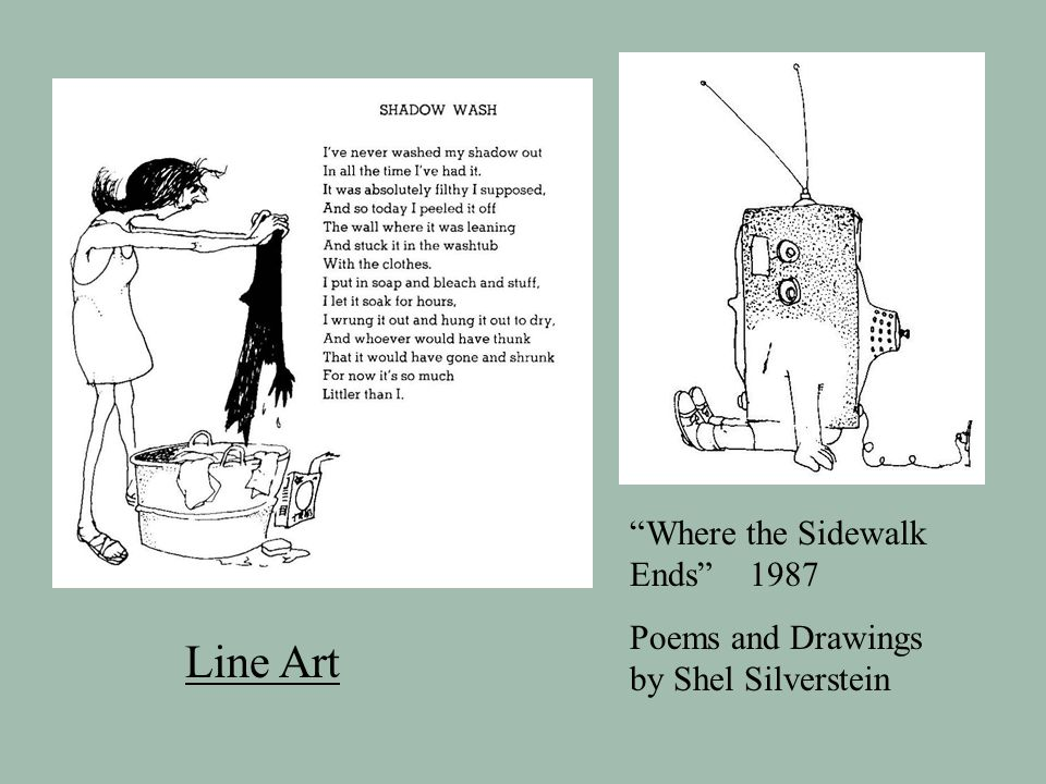 Line Art Where the Sidewalk Ends 1987 Poems and Drawings by Shel Silverstein