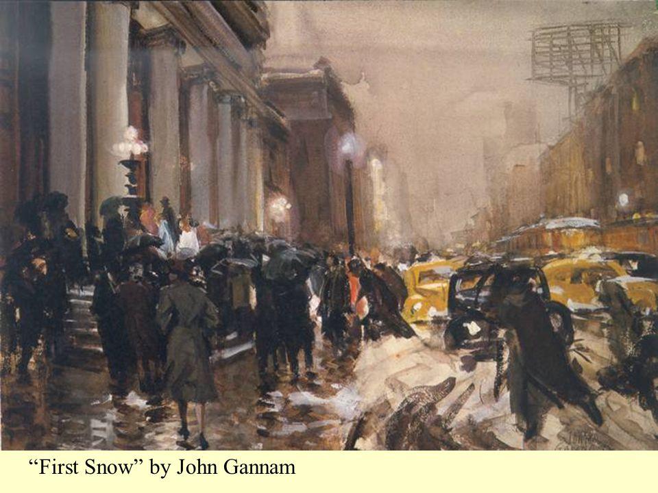 First Snow by John Gannam