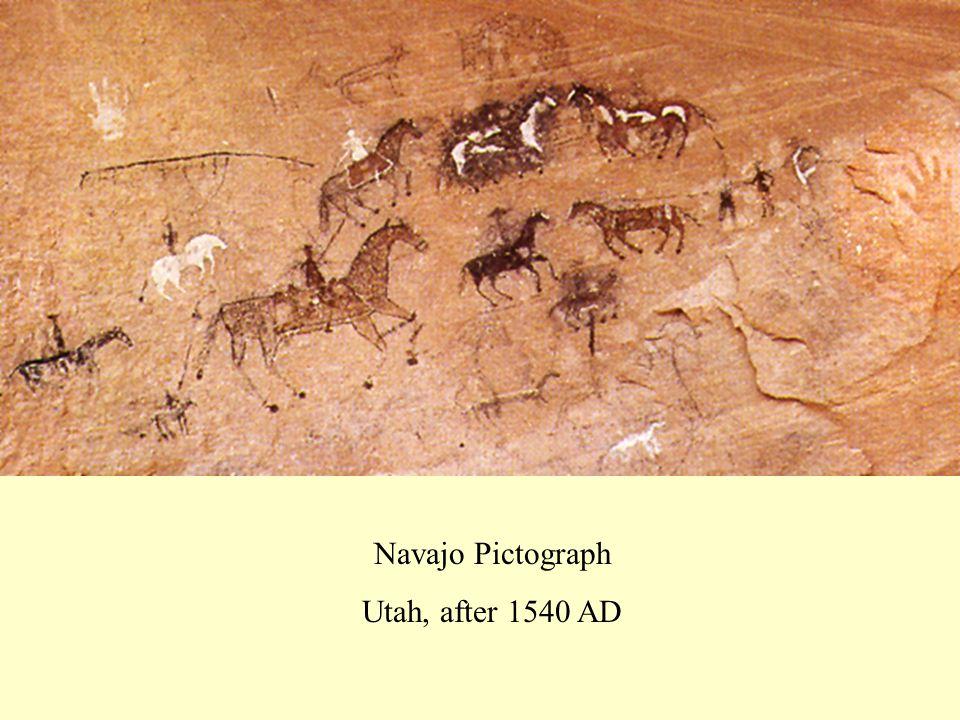 Navajo Pictograph Utah, after 1540 AD