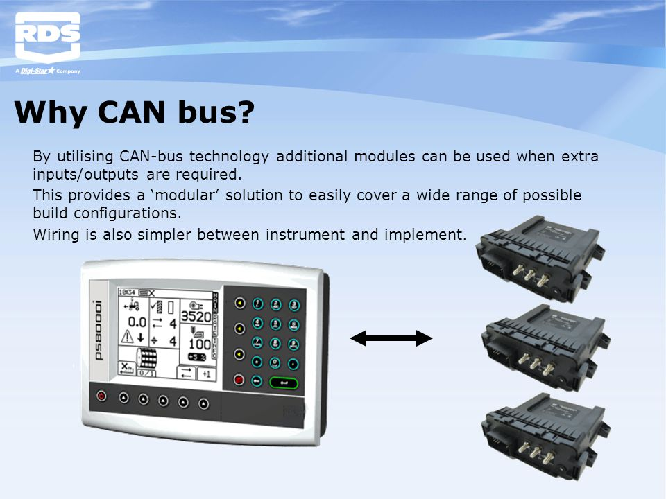 Why CAN bus? By utilising CAN-bus technology additional modules can be used when extra inputs/outputs are required. This provides a 'modular' solution