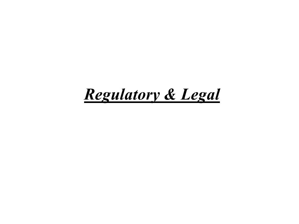 Regulatory & Legal