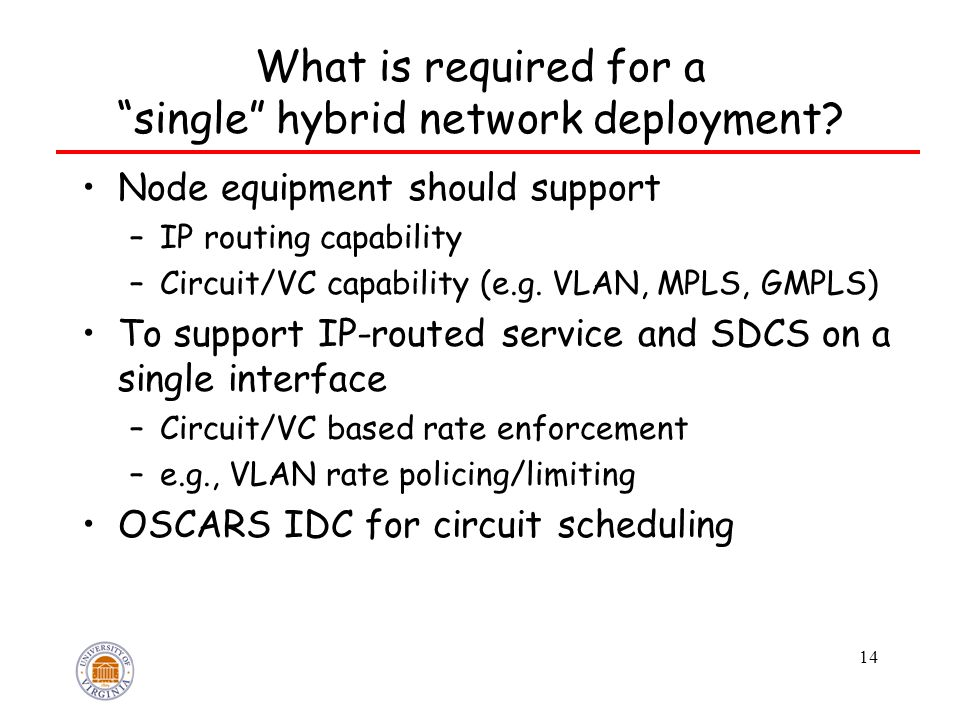 What is required for a single hybrid network deployment.