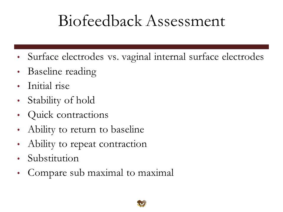 Biofeedback Assessment Surface electrodes vs.