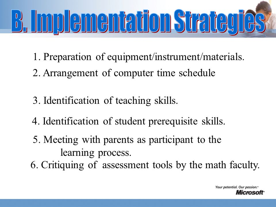 1. Preparation of equipment/instrument/materials.