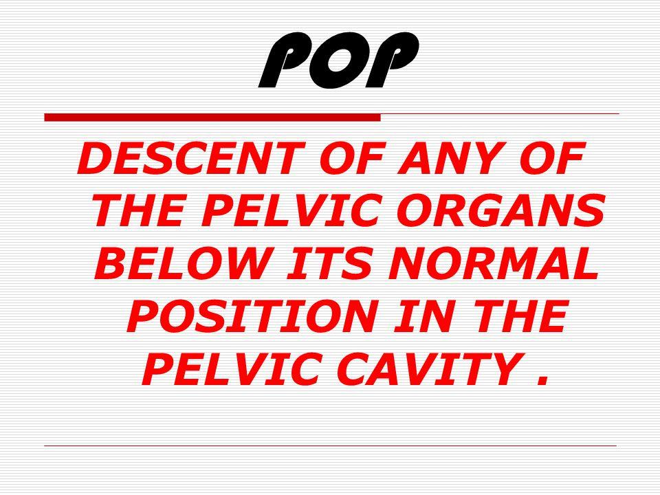 PELVIC ORGAN PROLAPSE POP HESHAM A F SALEM MD ALEX. UNIV.