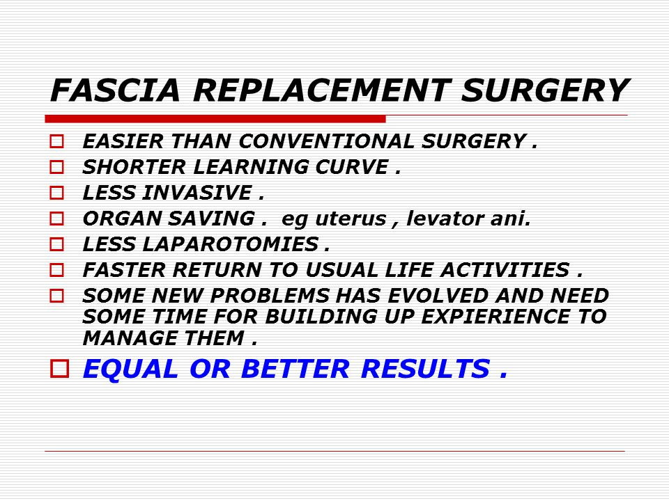 STRATEGY OF TREATMENT  EXERCISE IS THE ONLY WAY TO STRENGHTHEN A MUSCLE.  MUSCLE APPROXIMATION IS HELPFUL ONLY IN DIVARICATION DEFECTS.  REPAIRE OR